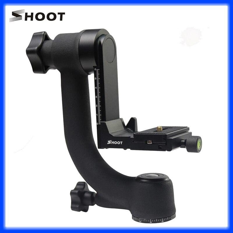 bilder für Shoot 360 kamera halter xt-359 360 panorama schuss panorama gimbal stativkopf schnellwechselplatte wasserwaage für slr kamera