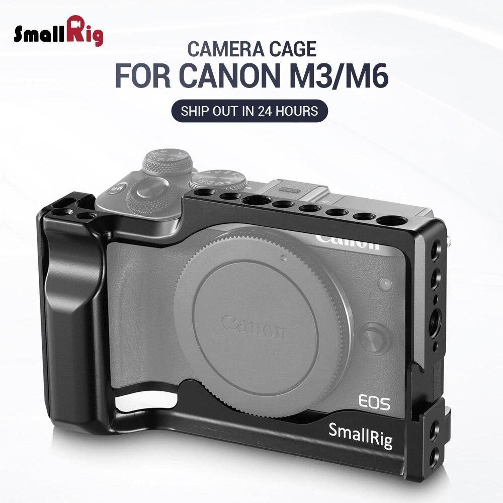 Cage de caméra SmallRig M6 pour Canon EOS M3 et M6 cellule légère de montage de forme avec support de chaussure froide de Rail de l'otan 2130