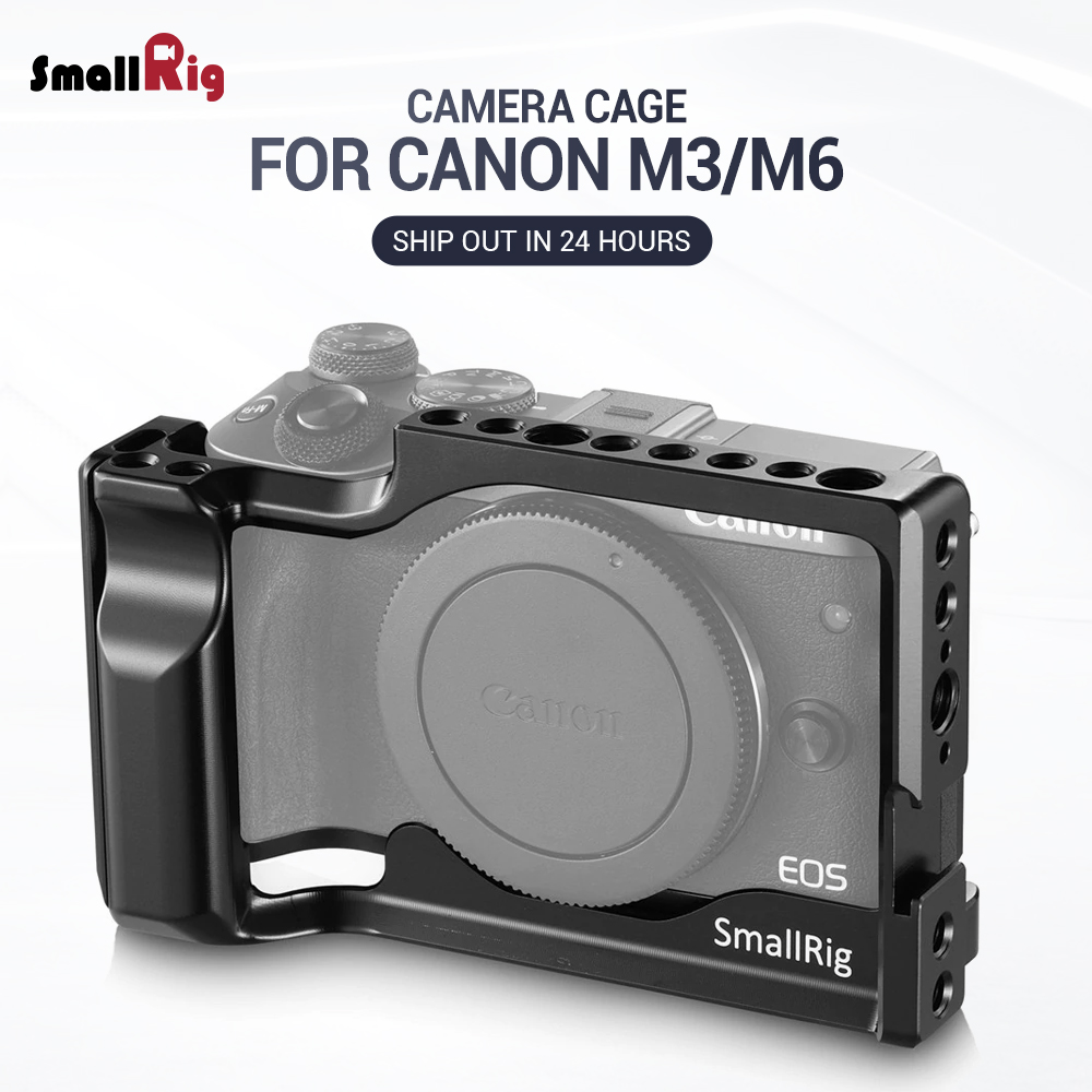 SmallRig M6 Camera Cage For Canon EOS M3 And M6 Form Fitting Light Weight Cell With Nato Rail Cold Shoe Mount 2130