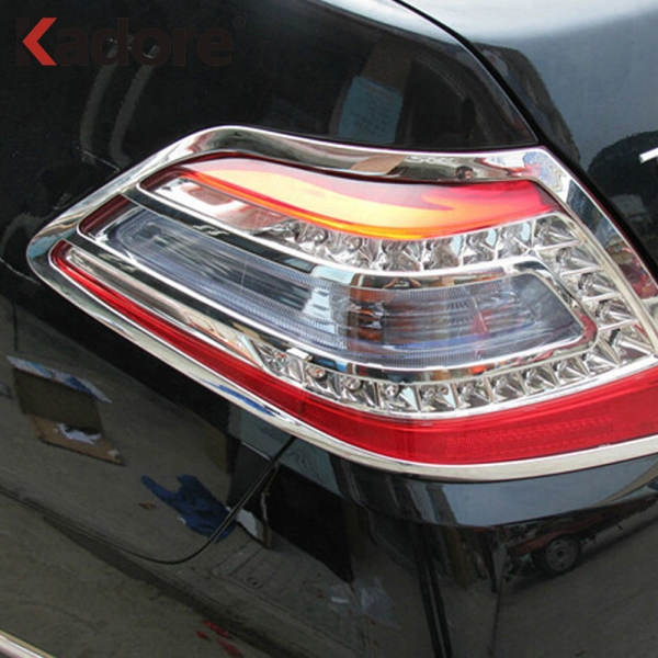 For Nissan Teana 2009 2010 ABS Chrome Rear Back Light Lamp Cover Trim Tail Light Car