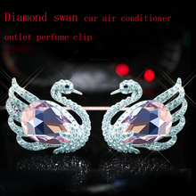CDCOTN 1Piece Diamond Swan Car Air Conditioning Outlet Perfume Clip Decoration Freshener Fragrance Accessories