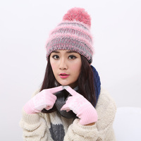 Three Color Polo Fleece Hat Knitting Cap Fashion Winter Warm Sheet For Men And Women Free
