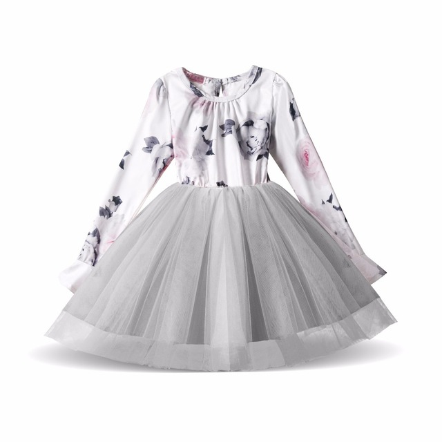 Flower Girl Dresses For Toddlers Wedding Party Birthday Tutu Baby Causal Wear Children Princess Tulle