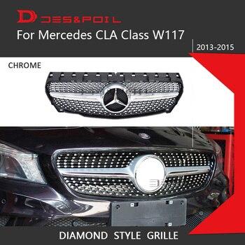 Для Mercedes Benz CLA Class W117 Алмазная решетка авто передний бампер гоночный гриль 2013-2015 CLA180 CLA200 CLA220 CLA250