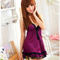 Mulheres sexy lace alcinhas camisola sexy sleepwear viscose roxo na11020100
