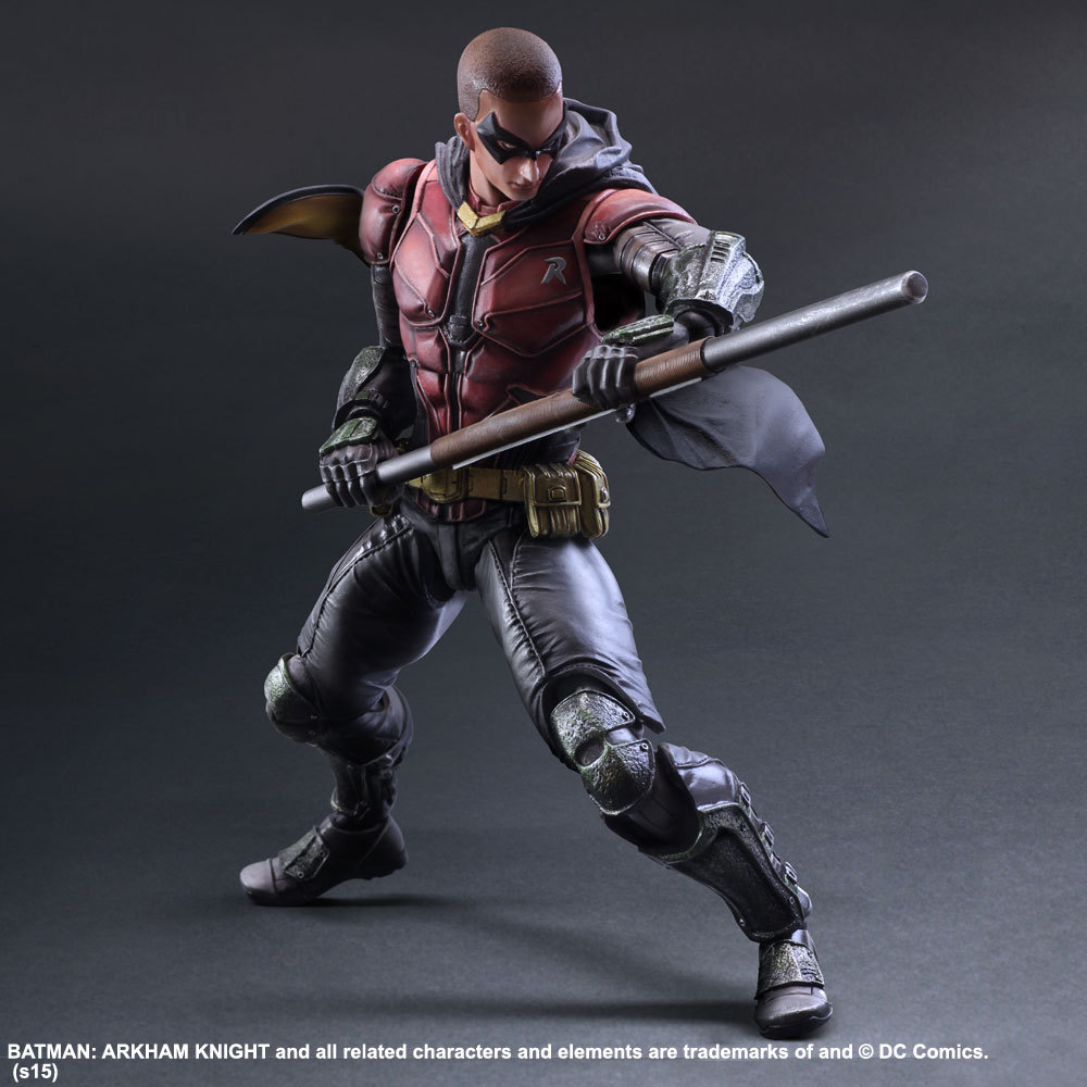 PLAY ARTS 27cm <font><b>Arkham</b></font> <font><b>Knight</b></font> <font><b>batman</b></font> <font><b>Robin</b></font> <font><b>Action</b></font> <font><b>Figure</b></font> Model Toys