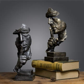The Thinker Creative Craft Home Decor Simple Figurines Tellurion Desk Cabinet And Office Decor Vintage Typewriter Resin Horse