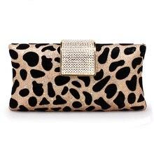 Leopard Abendtaschen Diamantspange Kupplungen 2016 Mode Frauen Abend Kupplung kleine Party Hochzeit kleid Geldbörse Handtasche