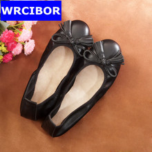 2017 Casual Bowtie Loafers Sweet Candy Colors Women Flats Solid Summer Style Shoes Woman 8 Colors Plus Size 34-43