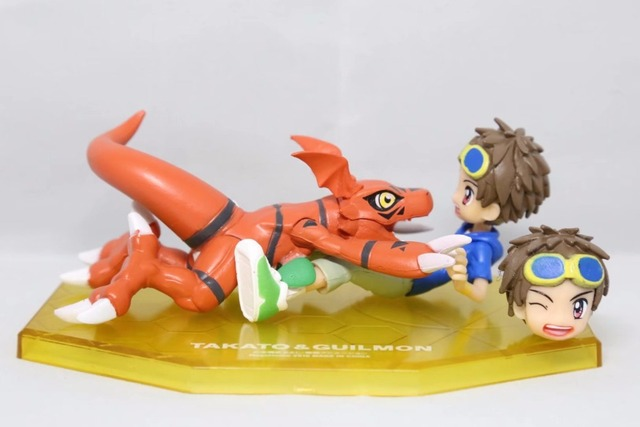 US $14 19 40% OFF|Anime Digimon Adventure Matsuda Takato Extra Guilmon Ver  PVC Action Figure Collectible Model doll toy 12cm-in Action & Toy Figures