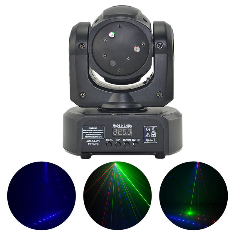 Mini 3 Lens RGB Full Color Beam Line Laser Effect Lights DMX DJ Party KTV Disco Club Show Professional Stage Lighting 3H mini rgb led party disco club dj light crystal magic ball effect stage lighting