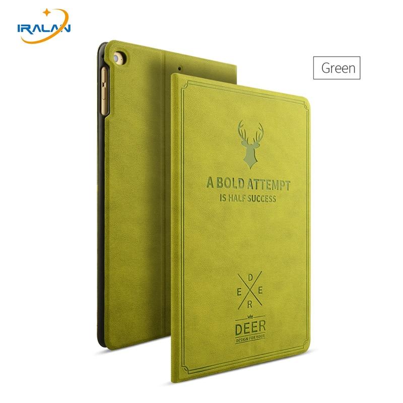 2017 New PU Leather Retro deer map Case Flip Leather Case For Apple iPad mini 1 2 3 Luxury Protective Case Cover+stylus pen+film case for ipad air 2 ipad 6 retro deer
