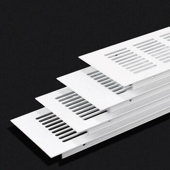 Картинка 4 шт. 80 мм Премиум широкий квадратный прямоугольник алюминиевая вентиляционная решетка вентилятор решетка крышка кондиционер шкаф обувной ...