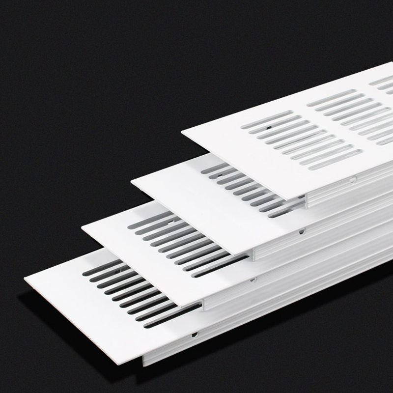 4Pcs 80mm Premium Wide Square Rectangle Aluminum Air Vent Ventilator Grille Cover Air Conditioner Closet Shoe Cabinet