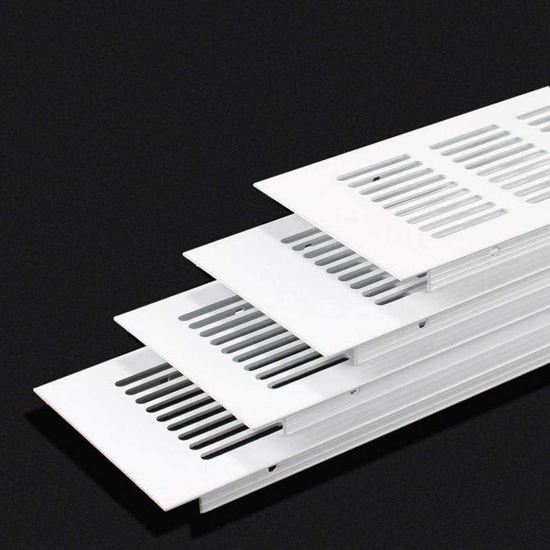 4Pcs 80mm Premium Wide Square Rectangle Aluminum Air Vent Ventilator Grille Cover Air Conditioner Closet Shoe Cabinet