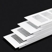 4 Uds 80mm de ancho cuadrado rectángulo Rendijas de ventilación de aluminio ventilador cubierta de rejilla aire acondicionado armario del gabinete del zapato