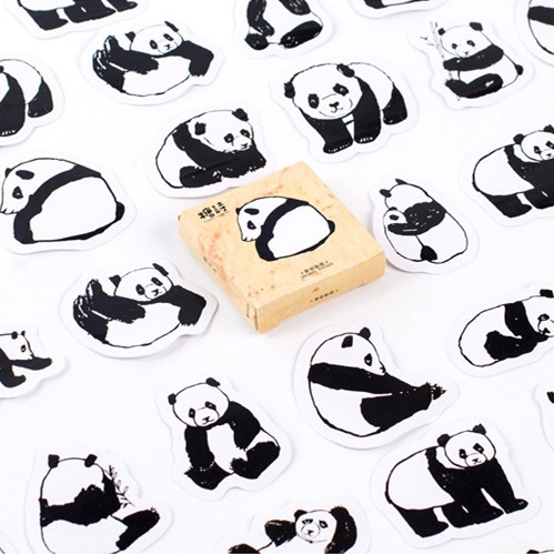 45 Pcs /Pack Cute Animals Panda Decoration Adhesive Stickers Diy Cartoon Stickers Diary Sticker Scrapbook Stationery Stickers