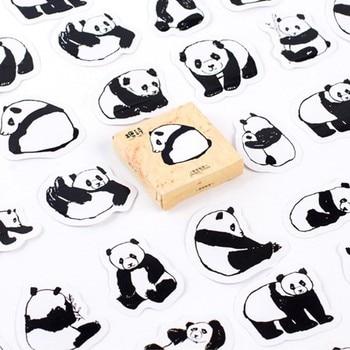 45 Pcs /Pack Cute Animals Panda Decoration Adhesive Stickers Diy Cartoon Diary Sticker Scrapbook Stationery - discount item  15% OFF Stationery Sticker