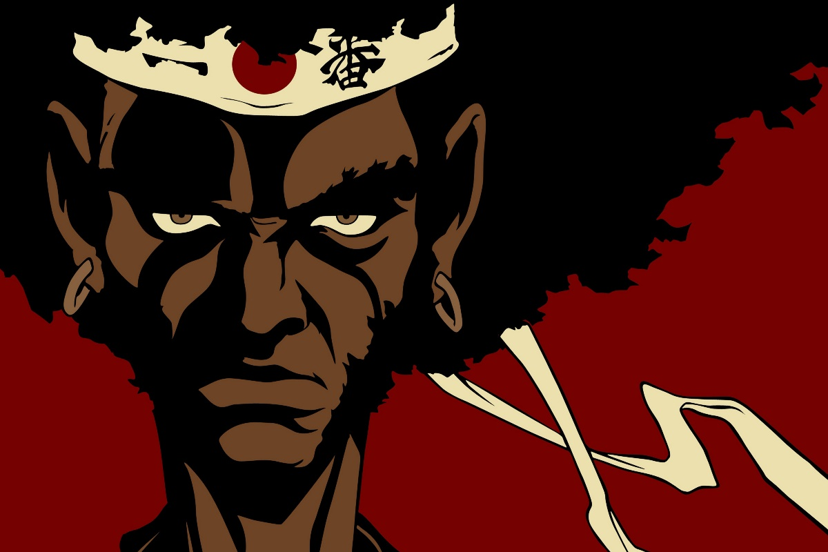afro samurai face knight portrait KC651 living room home wall modern ...