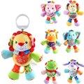 Dog/Monkey/Lion/Blue Elephant/Pink Elephant/Deer/ frog Baby Toys Animal Baby Rattles & Mobiles Infant Plush Learning Kids Gift