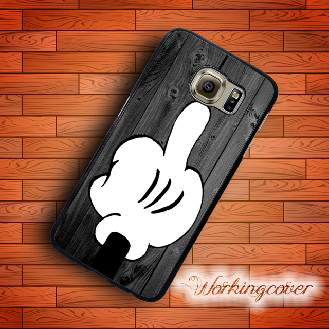 lowest price 425d1 6736e Fundas Wood Cartoon Finger Funny Case for Samsung Galaxy S8 S7 S6 S5 S4 S3  Edge Plus Case Cover for Galaxy Grand Prime Case. on Aliexpress.com | ...