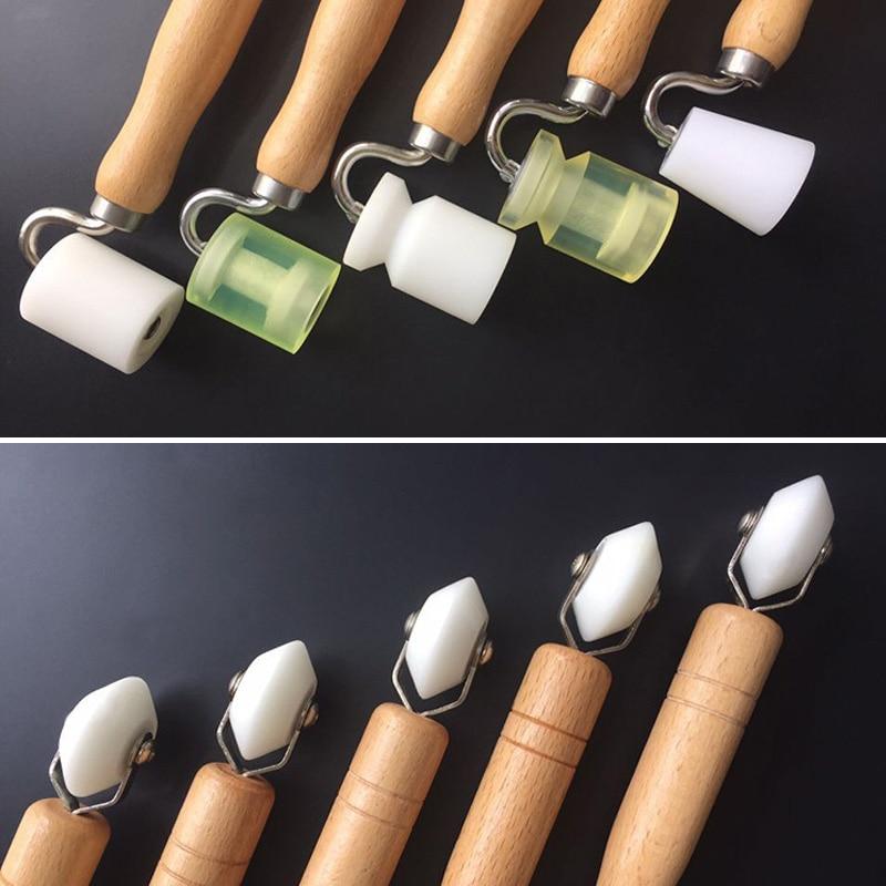 Dual Head Corner Wallpaper Seam Roller Seam DIY Tool For Seamed Home Decor WWO66