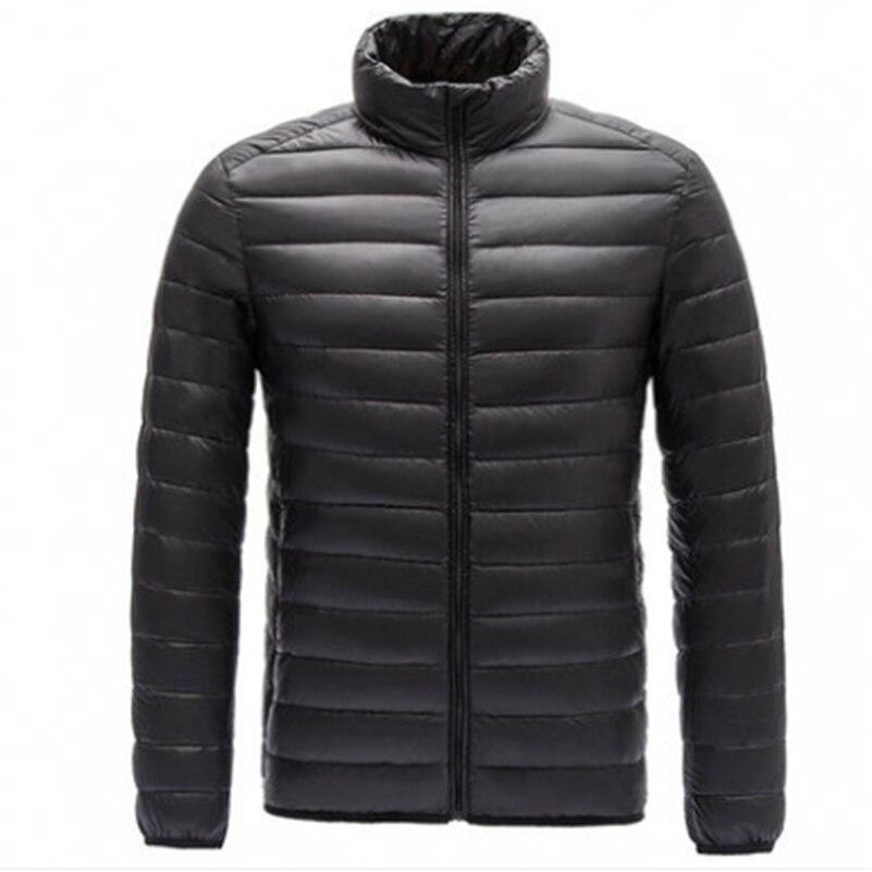 2018 Новые легкие пуховая куртка мужская воротник, большие размеры, короткие, повседневный пиджак куртка.