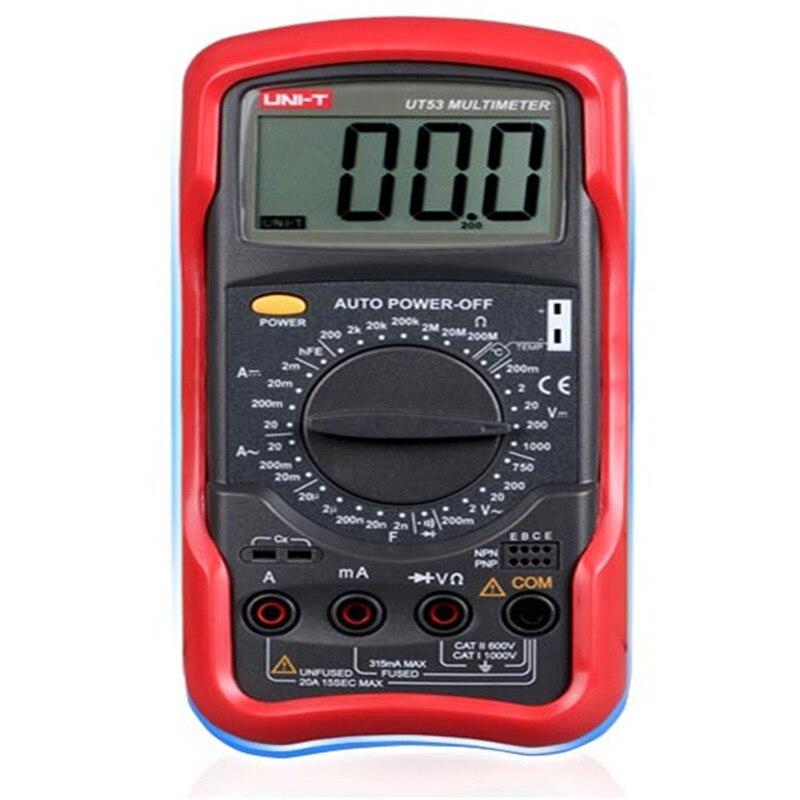 UNI-T UT53 Digital Multimeter Portable Voltmeter Tester Meter AC/DC frequency multimeter Ammeter Multitester