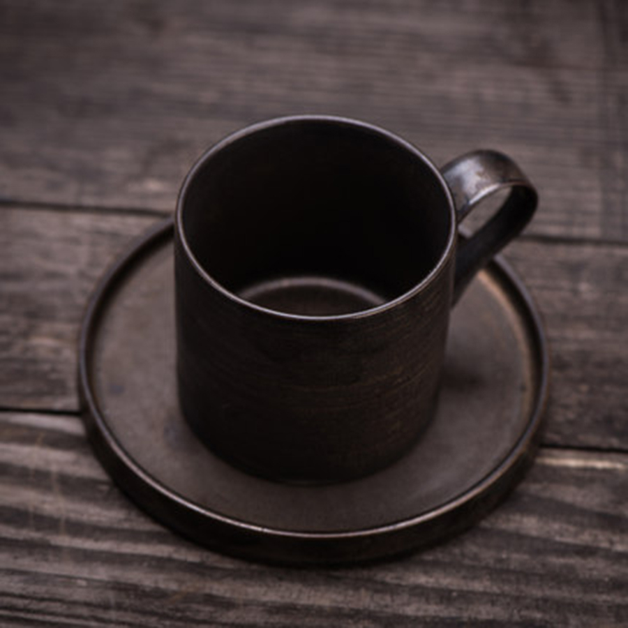 Élégant en céramique café chinois et soucoupes belle élégante vaisselle thé Cappuccino tasses Vintage ménage outil 5B50257