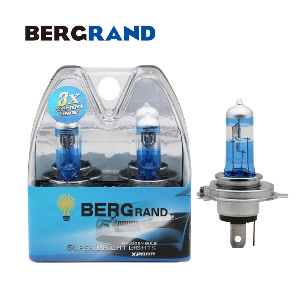 2PCS <font><b>H4</b></font> 9003 Halogen Bulb 12V <font><b>60</b></font>/<font><b>55W</b></font> 4300K Xenon Car Headlight <font><b>Lamp</b></font> High & Low Beam 30% Plus Super Vision Ultra Quartz Glass image