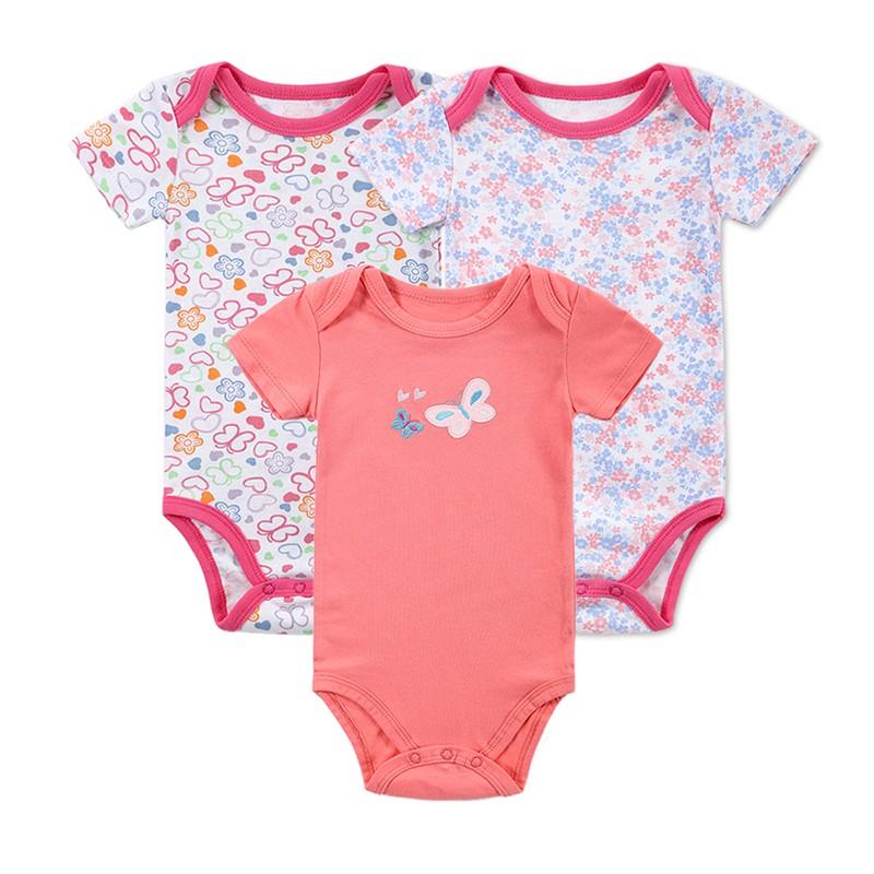 3 Pieceslot Baby Fashion Striped Short Sleeve Rompers Children Jumpsuit Newborn Boys Girls Clothes Body Roupa de Overalls (9)