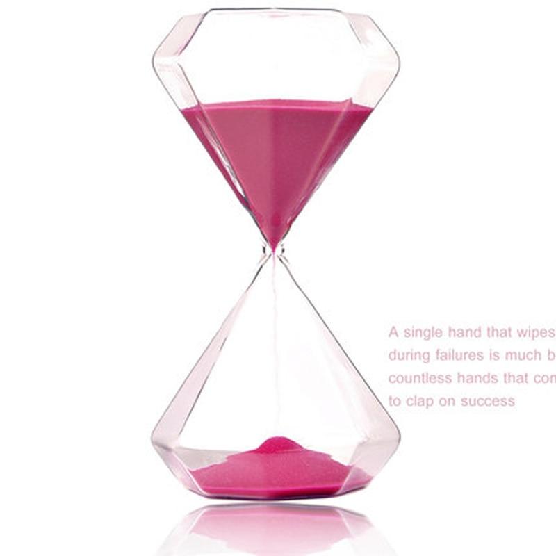 OUYUN 5 minuters färgglas timglas 6 * 6 * 11.7cm bröllop diamant - Heminredning - Foto 2