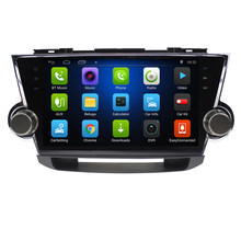 "8,1 ""Android 10,2! Автомобильный DVD ПК Мультимедийный dvd-плеер gps Navi Стерео Радио Fit TOYOTA HIGHLANDER 2008 2009-2013 3g wifi OBD DVR(China)"