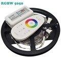 DC12V RGBW 5050 LED Strip 5 M/roll 300 Leds Diodo Emissor de Luz Flexível 60LED/m, RGBW RGBWW 5050 LED Strip + 2.4G RGBW CONDUZIU Controlador