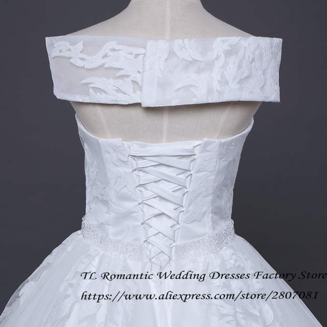5761d1478c9 2017 Real Photo Sex Boat Neck Princess Wedding Dress White Sleeveless  Quality Floor Length Bride Gowns