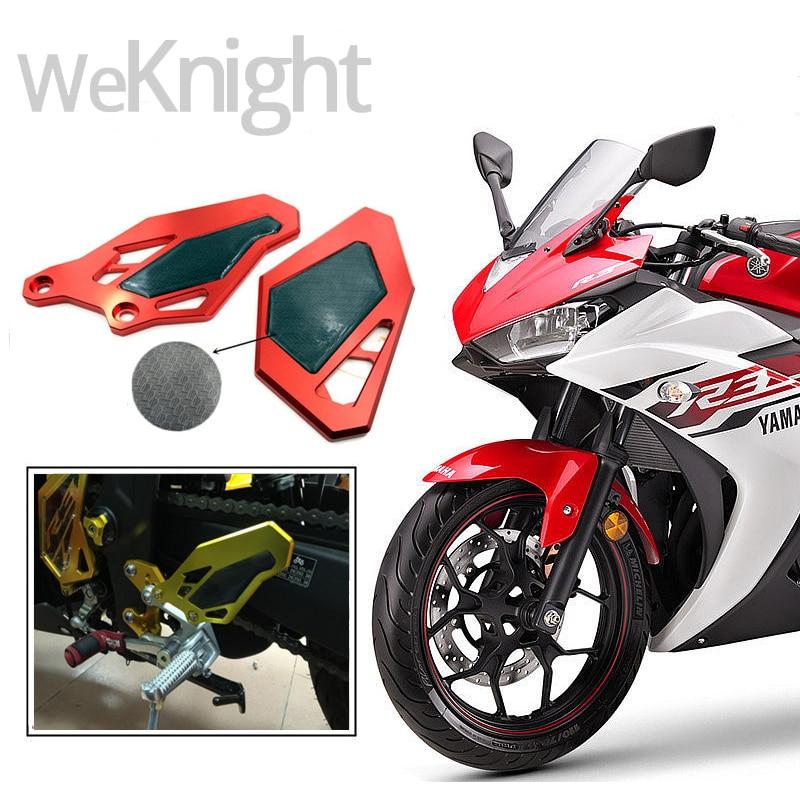 Motocicleta accesorios moto CNC Reposapiés Rearset Reposapies Placa Guardia para
