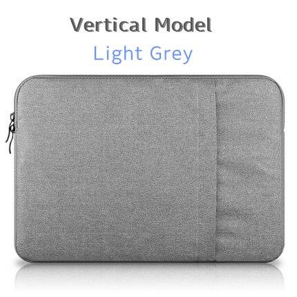 """Брендовый чехол aigreen для ноутбука 1"""", 13"""", 1"""", 15, 15,6 дюймов, сумка для Macbook Air Pro 13,3"""", 15,"""", Прямая поставка - Цвет: Vertical Light Grey"""
