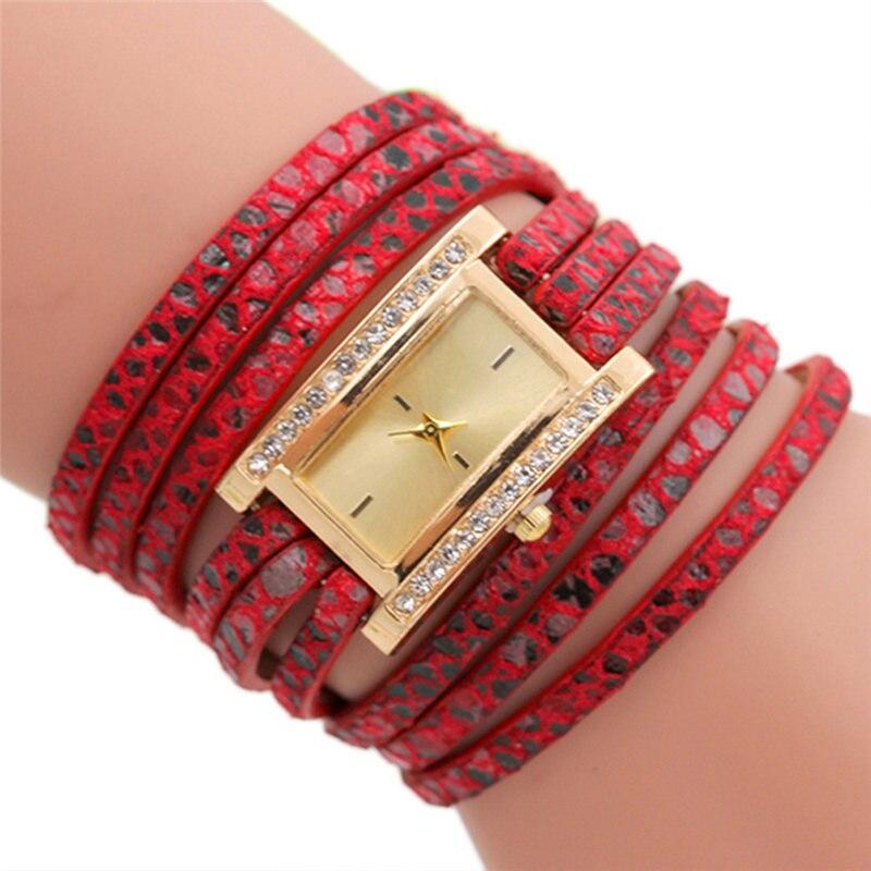 New Arrival Fashion Rectangle Dial Analog Quartz Watch Women Leather Band Wrist Watch Montre Femme woman