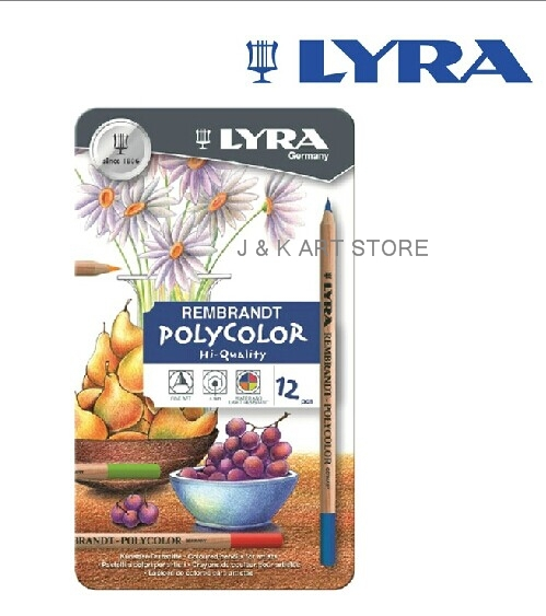 12 colors high quality Lyra Rembrandt Polycolor Premium Oil Based ...