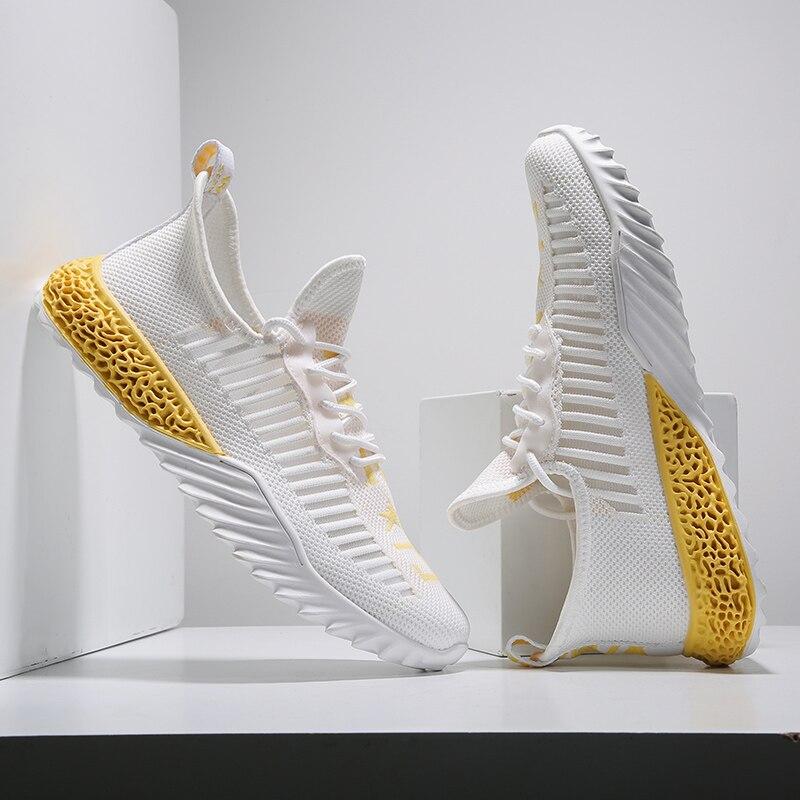 Nouveau hommes chaussures vulcanisées hommes baskets 2019 mode été confortable bas haut plat chaussures respirant compensées baskets