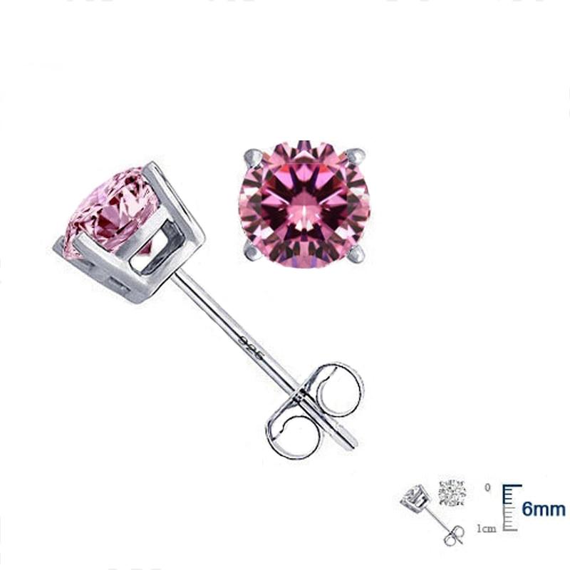 Jemmin Elegan Asli 925 Sterling Silver Kristal Stud Earrings Wanita - Perhiasan bagus - Foto 2