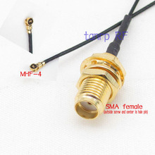 RF pigtail jumper cable 6in 6'' IPX IPEX I-PEX U.FL MHF4 to SMA female jack for PCI WIFI Card wireless router 0.81mm 15CM