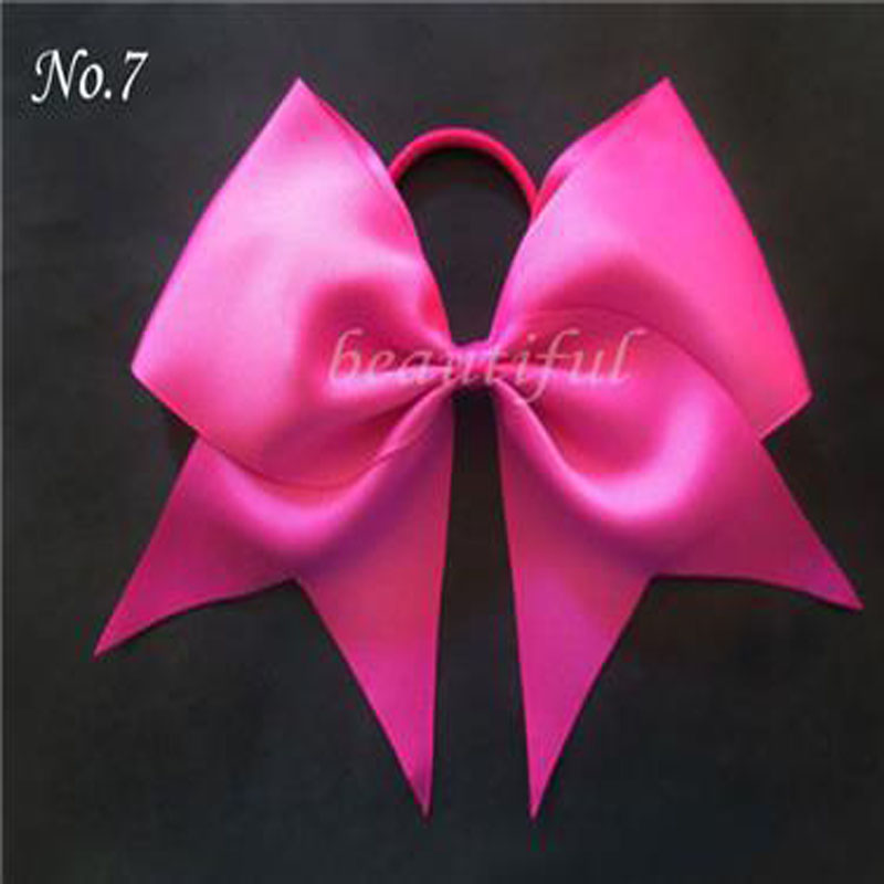 12pcs BLESSING Happy Girl Boutique Hair Accessories 7 Inch Cheer Leader Bow Elastic ...