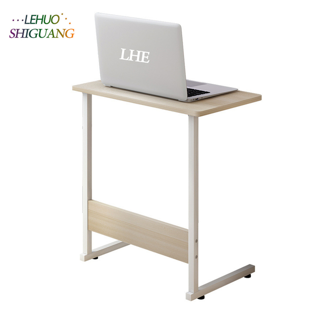 Wooden Standing Style Computer Desk Student Dorm Bedside Mobile Living Room Coffee Table