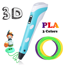 Printing 3D Pen 1.75mm PLA Smart Canetas Criativa Birthday Gift Mais Vendidos Lapiz for kids Drawing With