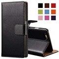 6 s/6 s plus case tirón de la carpeta del cuero genuino para el iphone 6 6 s 4.7 pulgadas bolsa cubierta del teléfono para iphone 6 s plus 5.5 con titular de la tarjeta