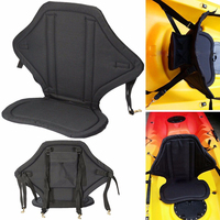 Adjustable Padded Rowing Boat Seat Detachable Soft and Antiskid Back Cushion Canoe Kayak Backrest With High Capacity Storage Bag