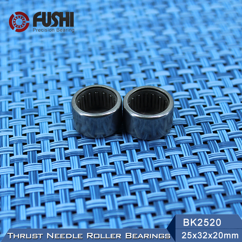 BK2520 Needle Bearings 25*32*20 mm ( 1 PC ) Drawn Cup Needle Roller Bearing  BK253220 Caged Closed ONE End 65941/25 nk38 20 bearing 38 48 20 mm 1 pc solid collar needle roller bearings without inner ring nk38 20 nk3820 bearing