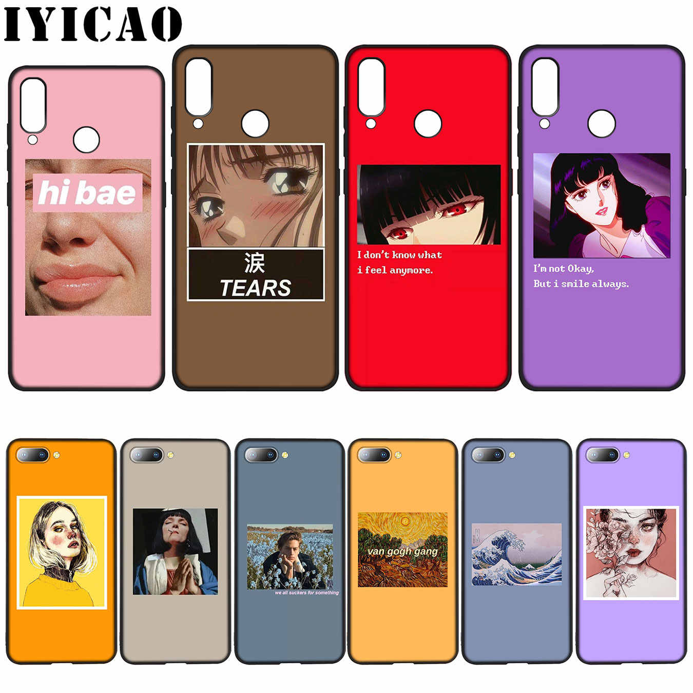 Great art aesthetic van Gogh Mona Lisa David Soft Case for Huawei Y7 Y6 Prime Y9 2018 Honor 8C 8X 8 9 10 Lite 7C 7X 7A Pro
