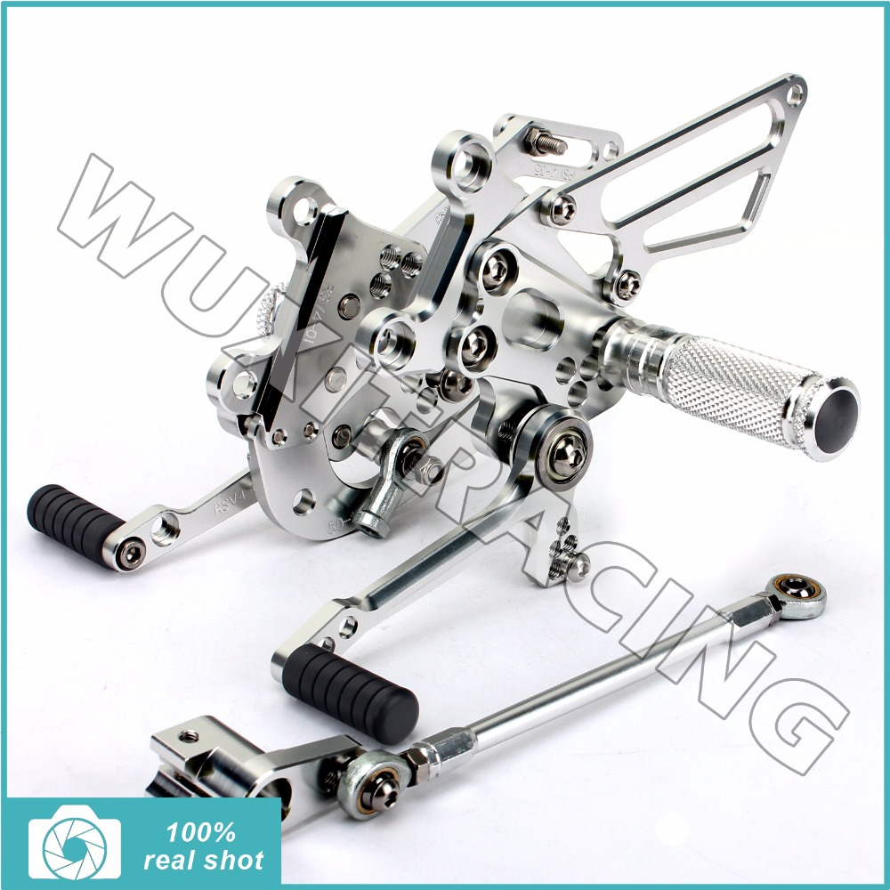 Billet Motorcycle Aluminium Alloy Adjustable Rider Rearsets Footpegs Footrests for APRILIA RSV4 1000 R / Factory 2009 2010 09 10